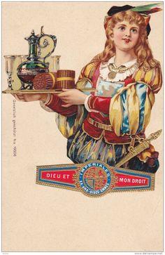 Tobacco Advertising, British Boy, Imperiales (Cigar) Ex-Uno Disce Omnes, Dieu Et Mon Droit, 1890s - Delcampe.com