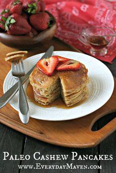 Paleo Cashew Pancakes by @Alice Maven  www.EverydayMaven.com #paleo