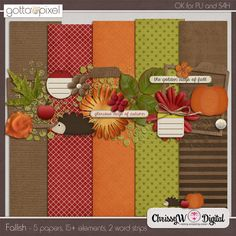 Fallish Mini Kit :: Gotta Pixel Digital Scrapbook Store  fall autumn brown red green flowers leaves hedgehog digital scrapbooking http://www.gottapixel.net/store/product.php?productid=10002728&cat=0&page=6