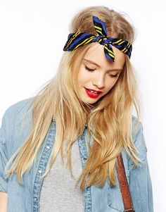 ASOS Stripe Neckerchief headscarf