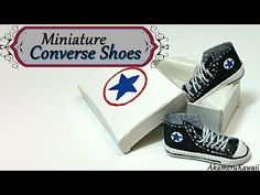 Miniature Converse inspired Shoes/Sneakers - Polymer clay & fabric tutorial - YouTube