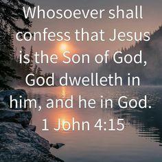 1 John 4 : 15 ( KJV )