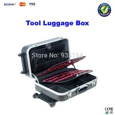 176.00$  Buy here - http://aliug1.worldwells.pw/go.php?t=2046164071 - Brand Pro'sKit TC-311 Heavy-Duty ABS Case With Wheels And Telescoping Handle, Draw-bar Box, Tool Luggage Box 176.00$
