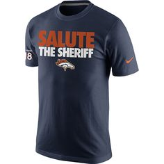 NFL Peyton Manning Denver Broncos Nike Salute the Sheriff Name and Number T-Shirt