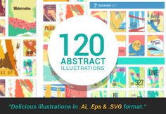 120 Abstract Illustrations packed in 15 different sets - Only $20