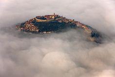 Motovun in fog, Croatia
