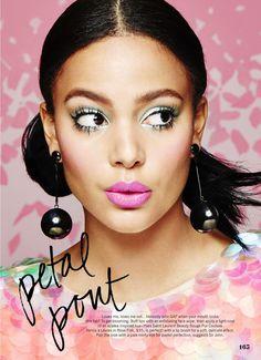 Kyra Green by Juco for Cosmopolitan US, April 2016 makeup