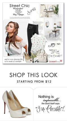 """Big........"" by sneky ❤ liked on Polyvore featuring Balmain, Christian Louboutin, H&M and sammydress"