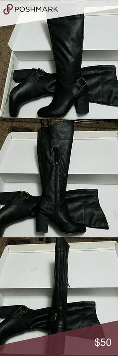 Black Boots Never worn Cato Shoes Heeled Boots