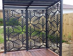 Decorative Panels Our high quality Habitat Decorative Panels are manufactured from aluminium that will not rust, warp or rot, guaranteeing you years of maintenance free enjoyment. Habitat Decorative Panels are perfect for both internal or externa Outdoor Screen Panels, Privacy Screen Outdoor, Privacy Panels, Fence Panels, Pergola Patio, Backyard Patio, Backyard Landscaping, Gazebo, Pergola Screens