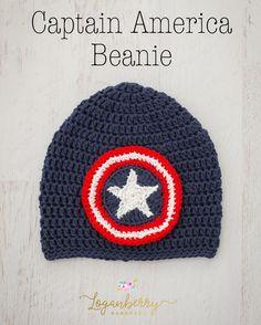 crochet captain america beanie pattern
