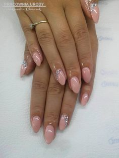 by Ola Chmaruk :) Follow us on Pinterest. Find more inspiration at www.indigo-nails.com #nailart #nails #indigo #nude #swarovski