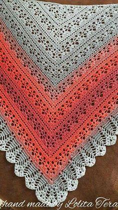 Crochet Patterns Easy and Cute FREE Crochet Shawl for beginner Ladies – Beauty Crochet Patterns! - Knitting Bordado - Her Crochet Poncho Crochet, Crochet Shawls And Wraps, Knitted Shawls, Crochet Scarves, Crochet Clothes, Crochet Chart, Easy Crochet Patterns, Love Crochet, Crochet Lace