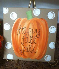 10x10 fall pumpkin canvas