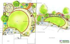 circular garden design plan - Google Search