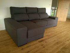 Firenze Sofa And Chaise With Understorage In Fabric Adjule Headrest Delivered To Our Client Bolton