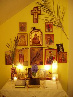 Icon Corner by ariellejuliana, via Flickr. I think I know just where I'd like to put our prayer corner in our new home...