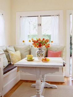 something like this for the breakfast nook