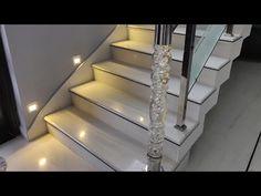 Stairs Tiles Design, Staircase Design Modern, Gate Wall Design, Staircase Railing Design, Small Staircase, Marble Staircase, Stair Design, Steel Grill Design, Steel Railing Design