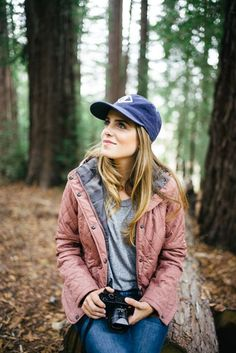 Fall in Big Sur - Barbour Jacket, Current Elliott Tee