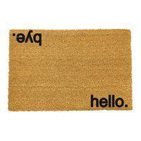Artsy Doormats Hello Bye Door Mat Indoor Door Mats, Indoor Doors, Design Shop, Housewarming Present, Funny Doormats, Welcome Mats, Garden Gifts, New Home Gifts, Funny Gifts