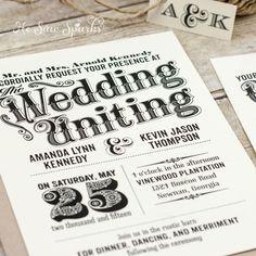 DIY Wedding Invitation - Vintage <3