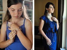 Premier Designs Jewelry Party » Lisa Brennaman Photography. Opening Night as a chocker, with Pearls Night Out pin attached at the side and Manhattan earrings. Opulence long necklace. Carolyn Popp Premier Designs.