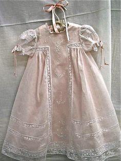 beautiful handmade baby dress by Miss Dot's Farmhouse Frabics