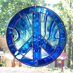 Cobalt Blue Stained Glass