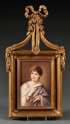 751: KPM Porcelain Portrait Plaque, Germany, c. 1900, r : Lot 751