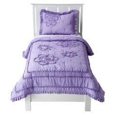 For thegirls - same set in purple and yellow.  Then you do the yellow sheets with he purple quilt and vice-versa. Love it.  Simple and can carry over all the way into tween years.  I'd gladly get 10 years out of this bedding if it held up.