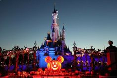 disney world halloween castle...I get to see this next week, SO excited!!