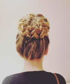Braid bun, long hair