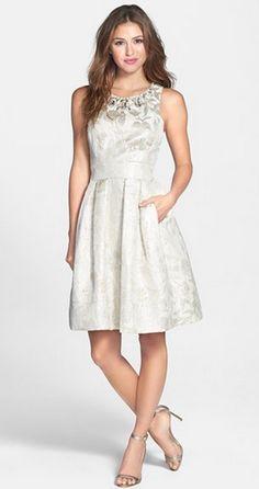 Embellished Silver Dress | Nordstrom.
