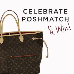 Win a shopping spree or a Louis Vuitton bag! We know you love PoshMatch, the latest and greatest version of Poshmark that allows you to shop the best items first from your favorite brands. So let's celebrate with our biggest giveaway ever! Each day through October 18th, we're giving away a $100 Posh shopping spree. Each day's entry will earn you a chance to win the grand prize: a Louis Vuitton Neverfull GM bag! For full details and official rules, visit blog.poshmark.com. Other