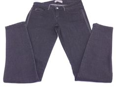 Ost Premium Denim Stretch Jeans Black Bling Women's 7 Waist 30 Inseam 32 HOT #Aropostale #SlimSkinny