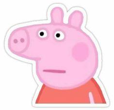 """Peppa Pig"" Stickers by Blake Aboueljoud Snapchat Stickers, Meme Stickers, Cartoon Stickers, Cool Stickers, Printable Stickers, Peppa Pig Stickers, Bubble Stickers, Peppa Pig Wallpaper, Peppa Pig Memes"