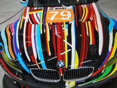 The BMW M3 GT2 (2010), by Jeff Koons http://northernfjords.com/2012/10/01/the-stavanger-art-museum-cars-and-paintings/