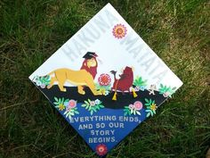 "Cute Graduation Cap Idea - Love this quote from The Lion King...""Everything ends. And so our story begins"".  #graduationcap  #graduation"
