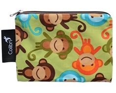 Small Reusable Snack Bag (Monkey) from #Colibri. #MadeInCanada.