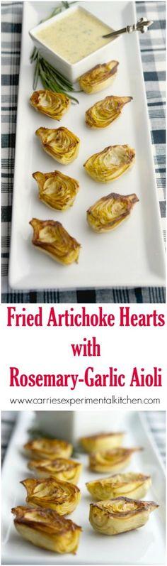 Fried Artichoke Hearts with Rosemary Garlic Aioli