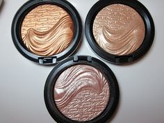 Love these!  I have the middle one, Young Venus. Smooth eye shadow finish.