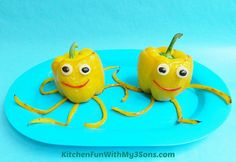 Octopeppers: Dinnertime has never been so fun thanks to Kitchen Fun With My 3 Sons' stuffed peppers.  Source: Kitchen Fun With My 3 Sons
