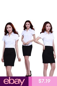 Women Office OL T-Shirt Working Business Top Blouse Shirt Turn-down Collar Shirt Collar Shirts, Shirt Blouses, T Shirt, Clothing, Shopping, Accessories, Shoes, Women, Fashion
