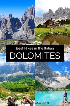 7 Stunning Easy Day Hikes in the Dolomites Italy (+Map & Planning Tips) Italy Map, Italy Travel, Beautiful Places To Travel, Cool Places To Visit, Hiking Guide, Hiking Trails, Perfect Road Trip, Italy Holidays, Visit Italy