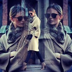 Ray-Ban Oversized Clubmasters, beige long coat, black skinny jeans and beige ancle boots #sofiaruutu #bloggerstyle #winterstyle