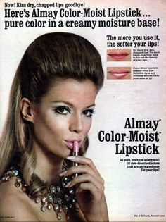Almay 'Color-Moist' Lipstick Ad, 1969