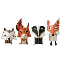 Our Workshop   Paper Animal Kits - Forest Friends ($1-20) - Svpply