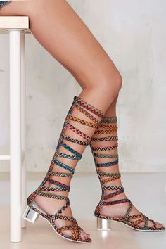 Jeffrey Campbell Enyo Knee High Gladiator Heels