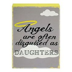 New View ''Angels Are Often Disguised'' Wooden Box Clever Caption Sign Art